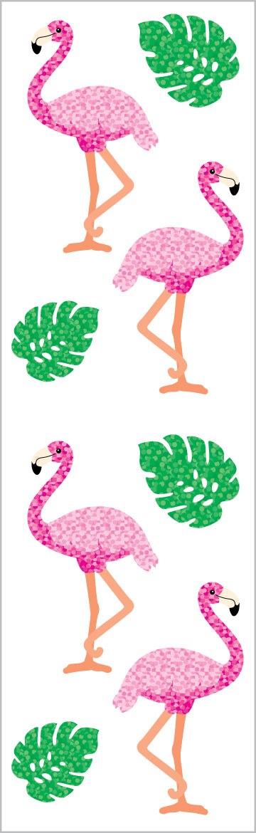 Limited Edition Sparkle Flamingos & Leaves - Mrs. Grossman's