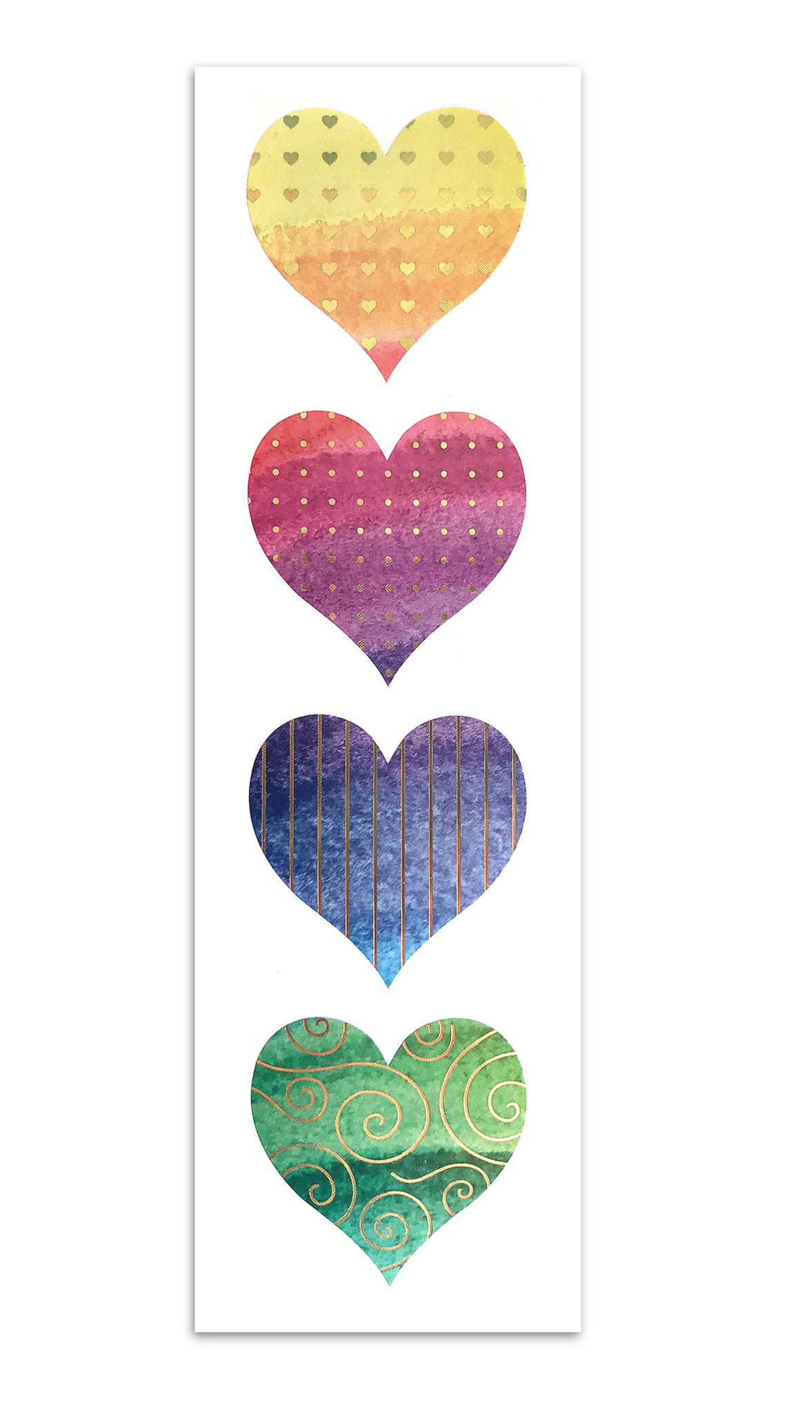 Limited Edition Fancy Watercolor Hearts