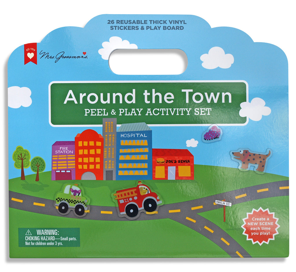 Around the Town Peel & Play Activity Set - Mrs. Grossman's