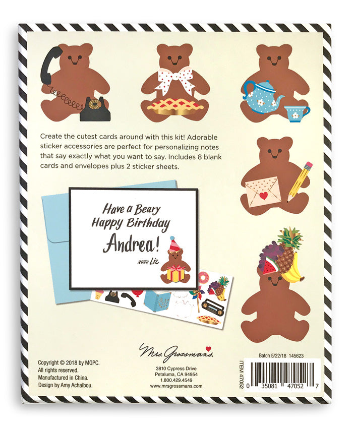 Beary Busy Design Your Own Sticker Notecards - Mrs. Grossman's