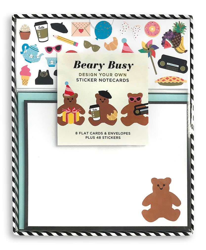 Beary busy design your own sticker notecards mrs grossmans