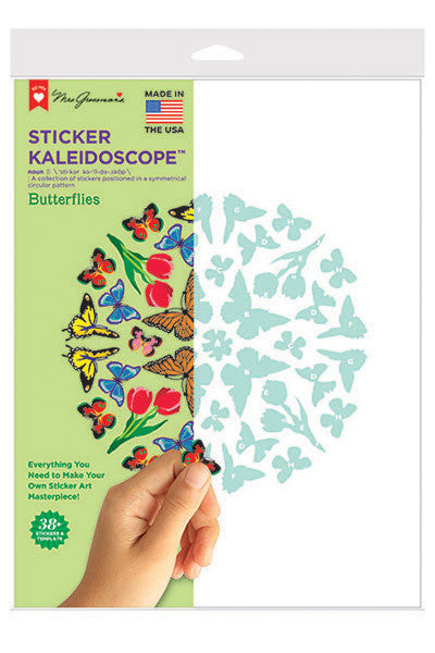 Butterflies Sticker Kaleidoscope, sticker, Mrs. Grossman's Stickers