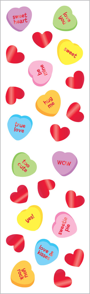 Candy Hearts, Reflections Stickers - Mrs. Grossman's