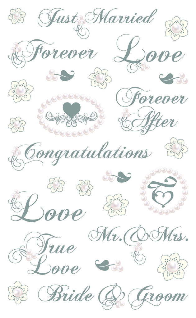 Wedding Phrases Stickers - Mrs. Grossman's