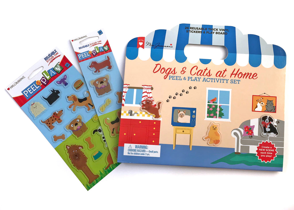 LIMITED SPECIAL! Dogs & Cats at Home Peel & Play Activity Set Bundle - Mrs. Grossman's