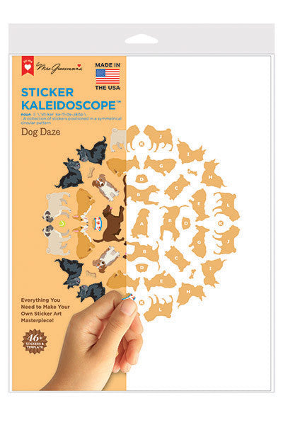 dog daze sticker kaleidoscope, sticker, Mrs. Grossman's Stickers