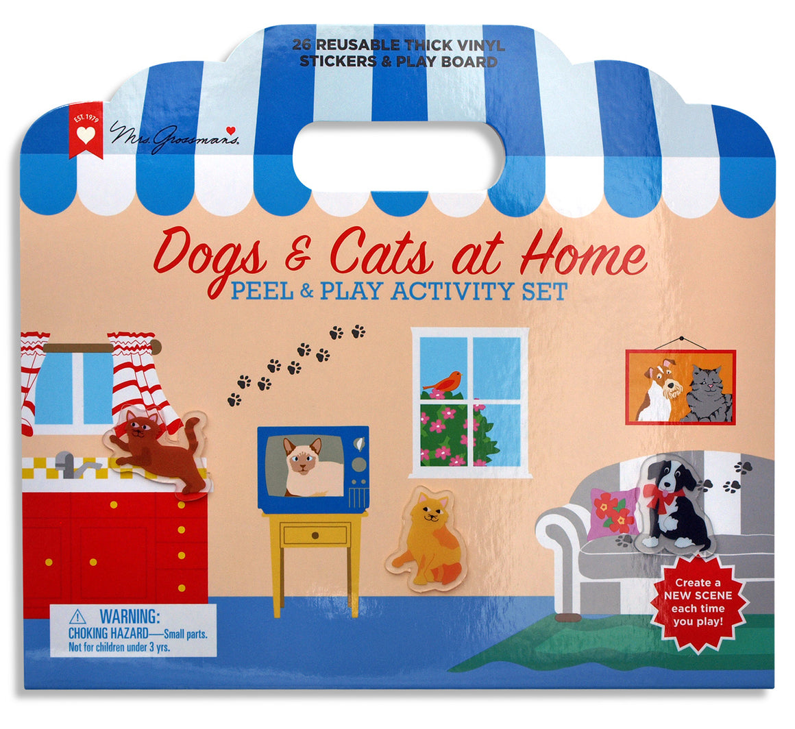 Dogs & Cats at Home Peel and Play Activity Set - Mrs. Grossman's