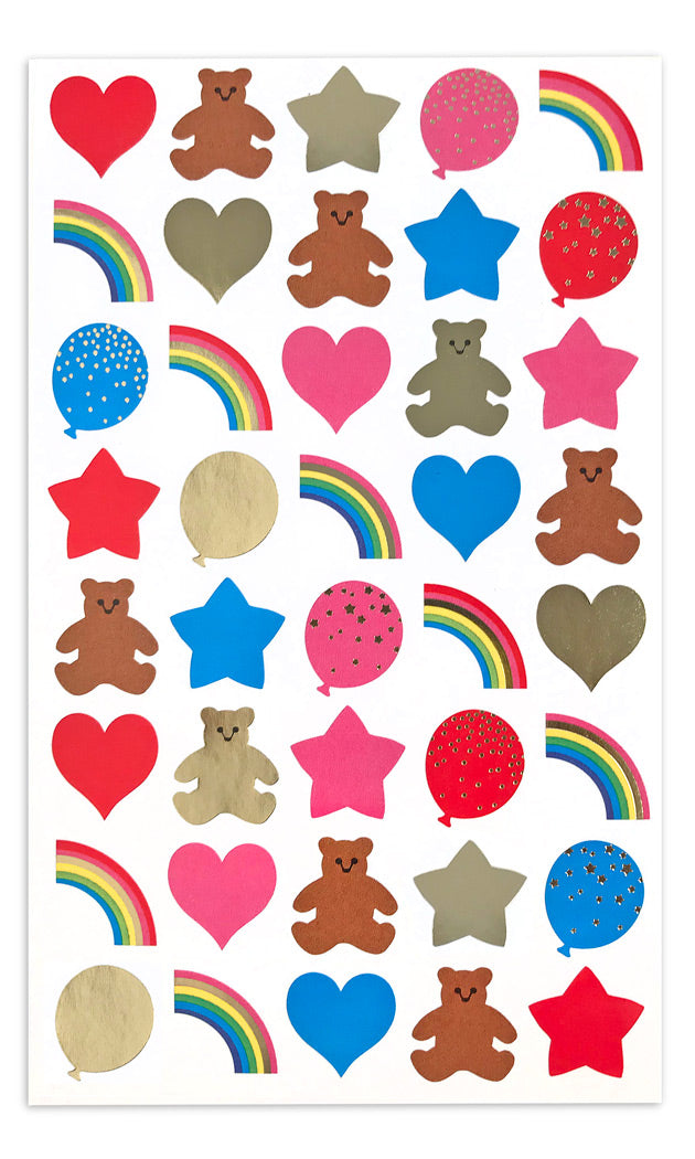 Strip Multi Design /& Colored Heart Stickers/' Mrs Grossman CHUBBY HEARTS