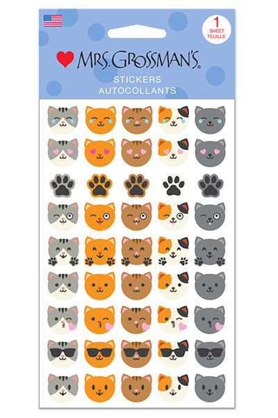 Cat Emotions, sticker, Mrs. Grossman's Stickers