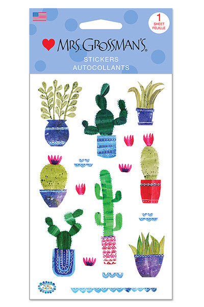 collaged cacti, Stickers, Mrs. Grossman's Stickers