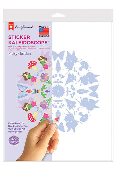 Fairy Garden Sticker Kaleidoscope, sticker, Mrs. Grossman's Stickers