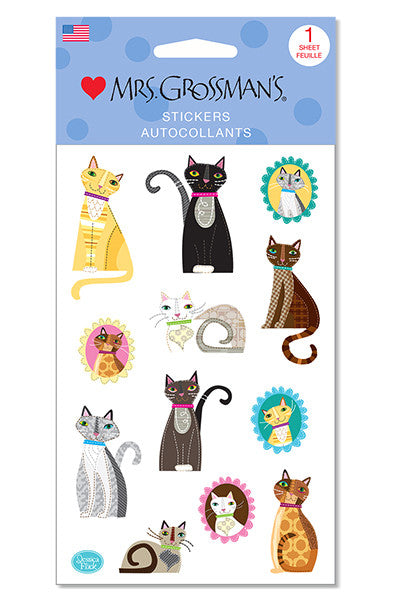 crafty cats, sticker, Mrs. Grossman's Stickers
