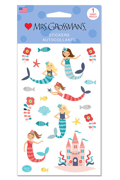 Merry Mermaids, sticker, Mrs. Grossman's Sticker Factory