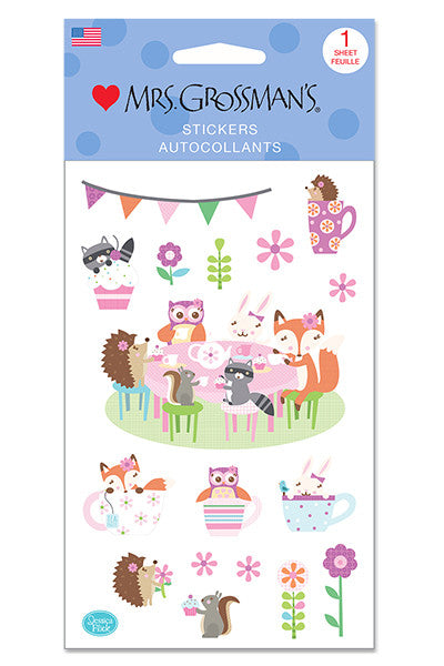 Woodland Tea party, sticker, Mrs. Grossman's Stickers