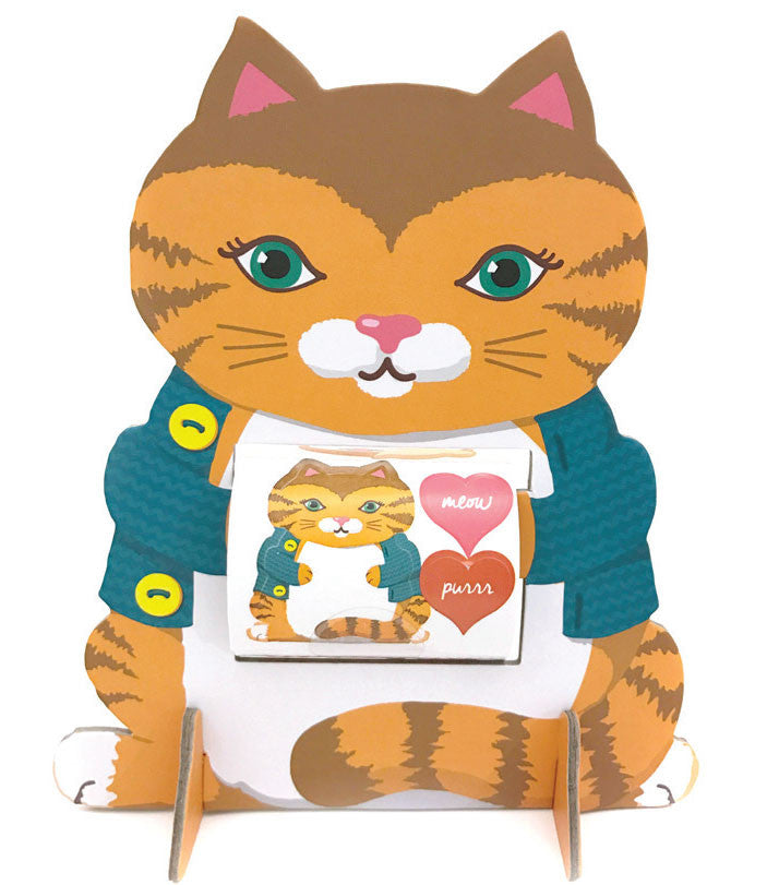 kitty cat sticker friend, stickers, Mrs. Grossman's Sticker Factory
