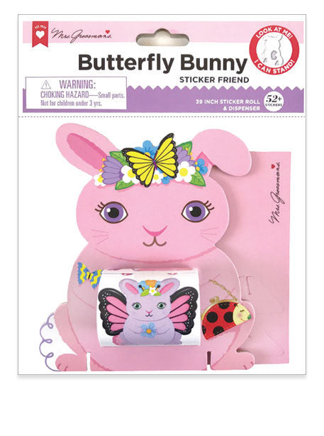 Butterfly Bunny Sticker Friend - Mrs. Grossman's