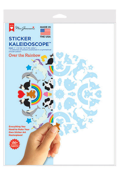 Over the Rainbow Sticker Kaleidoscope, stickers, Mrs. Grossman's Sticker Factory