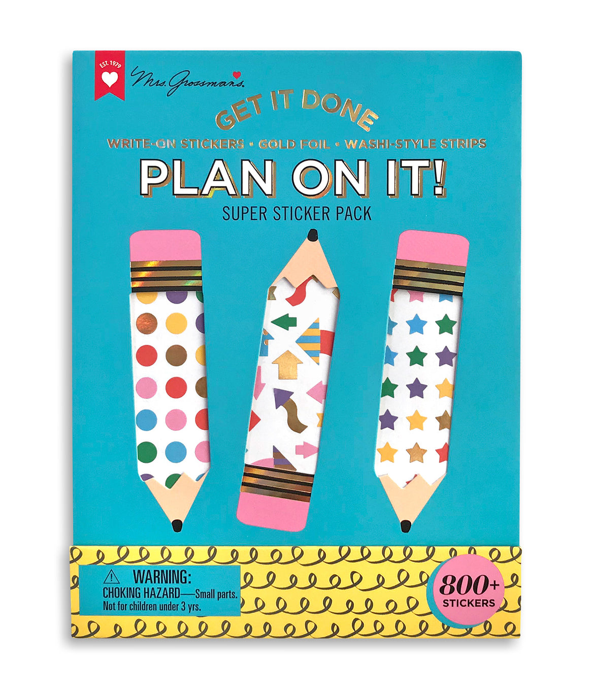Plan On It Super Sticker Pack - Mrs. Grossman's