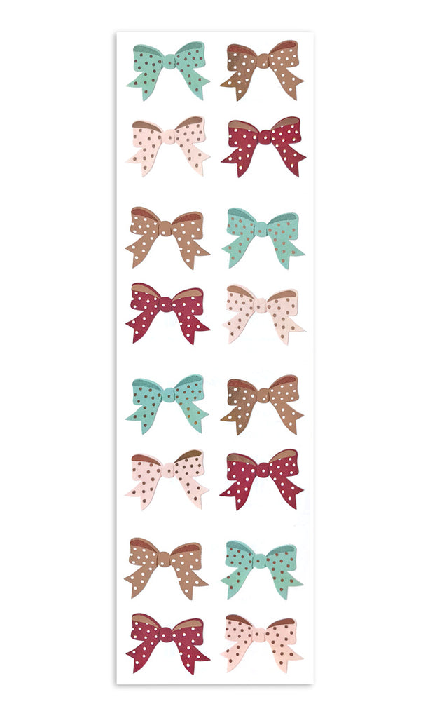 Polka Dot Bows - with Rose Gold Foil - Mrs. Grossman's