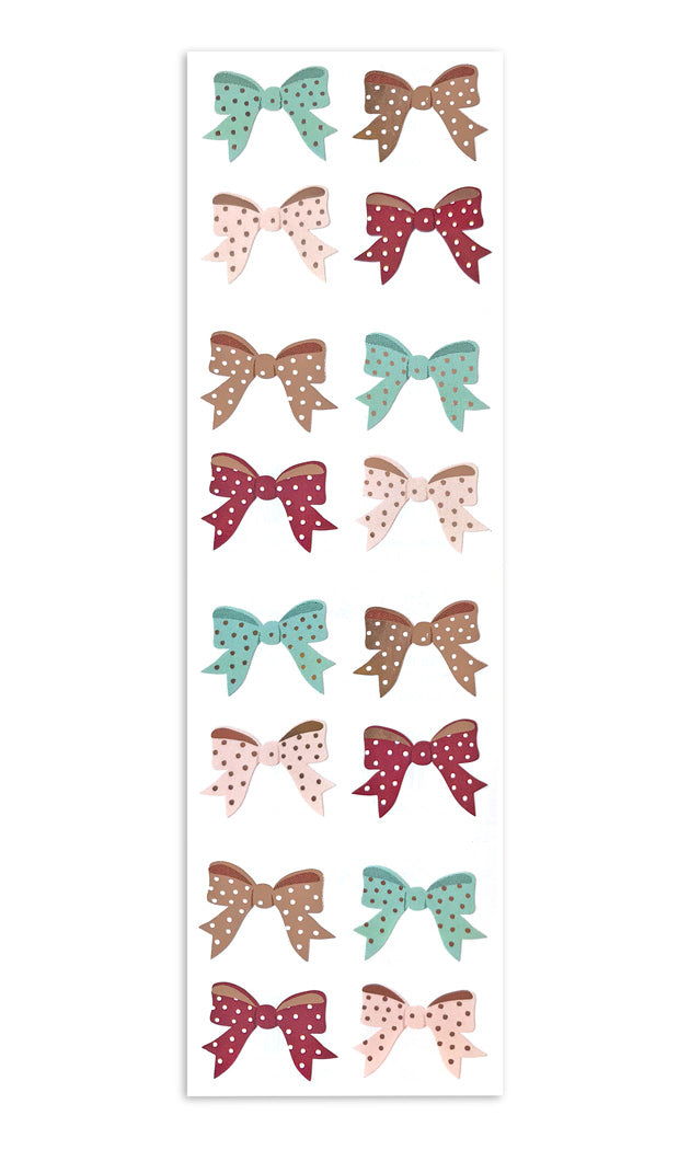 Polka Dot Bows - with Rose Gold Foil