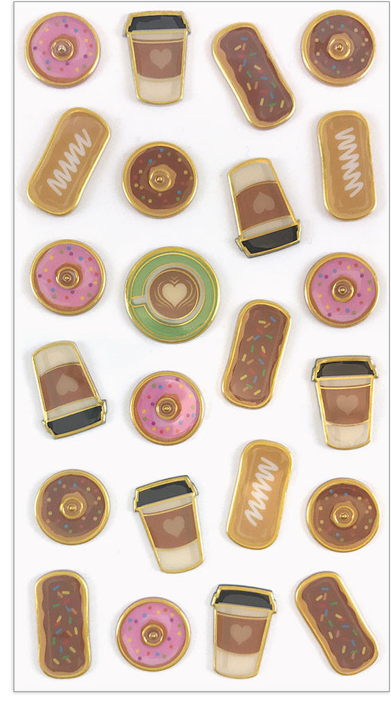 Coffee & Donuts Puffies - Mrs. Grossman's