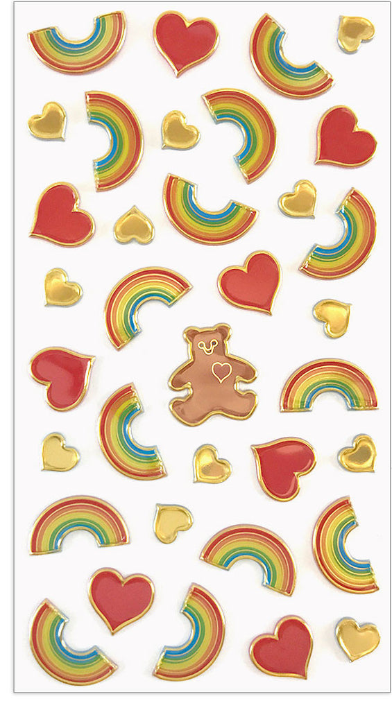 I Heart Rainbows Puffies Stickers - Mrs. Grossman's