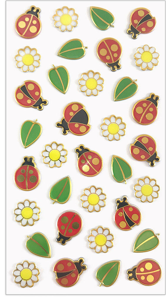 Ladybugs & Daisies Puffies - Mrs. Grossman's