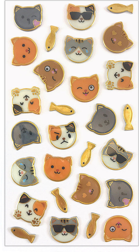 Puffies, Moody Cats, stickers, Mrs. Grossman's Sticker Factory