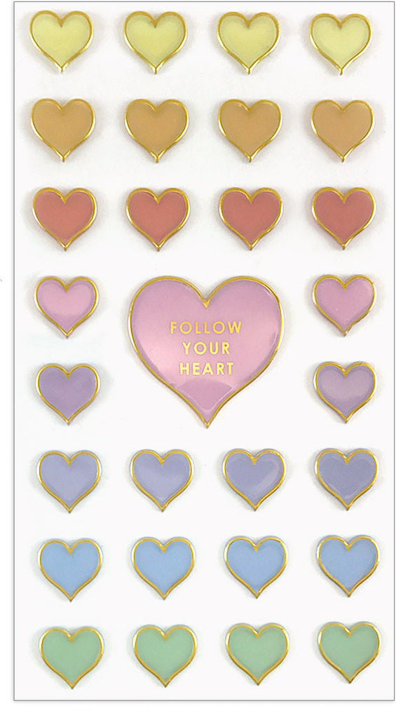 Pastel Hearts Puffies - Mrs. Grossman's