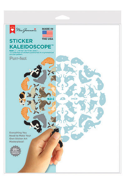 Purr-fect Sticker Kaleidoscope, stickers, Mrs. Grossman's Sticker Factory