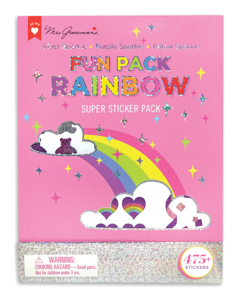 Fun Pack Rainbow Super Sticker Pack - Mrs. Grossman's