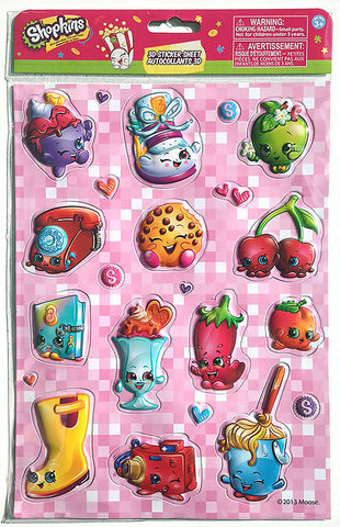 Shopkins™ 3D Sticker Sheet