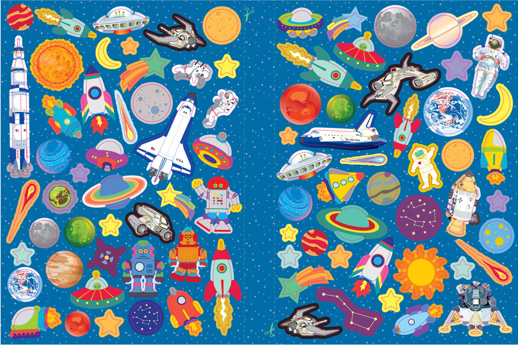 Space Sticker Collection Book