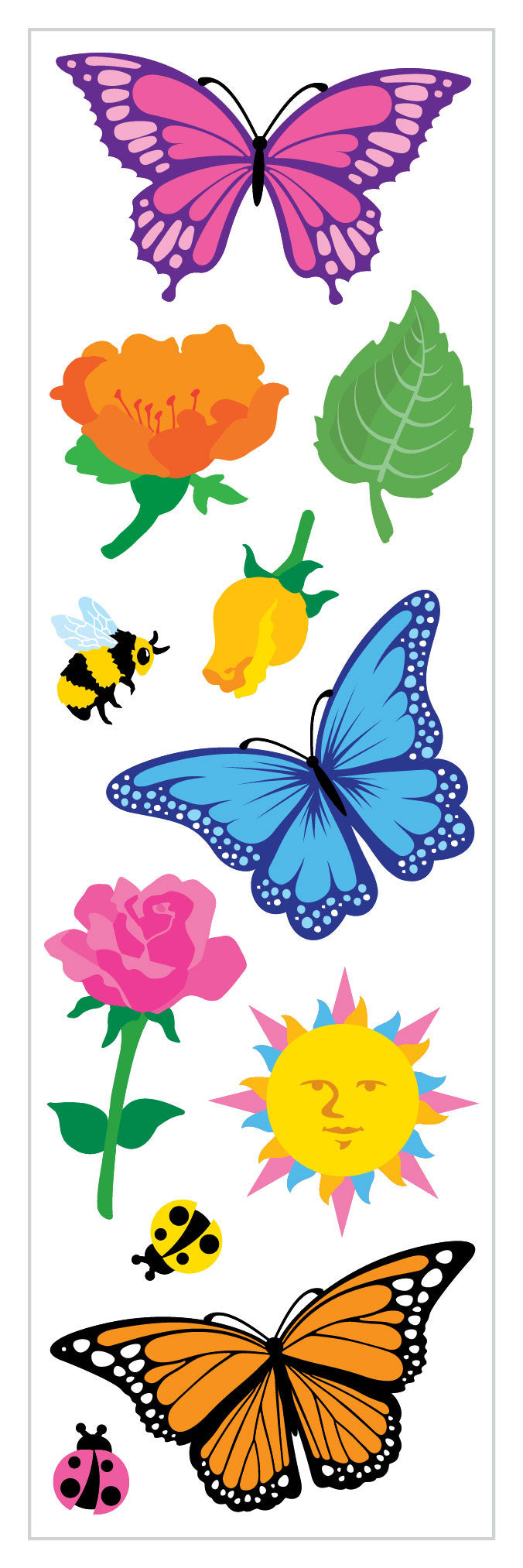 Butterflies and Flowers Stickers