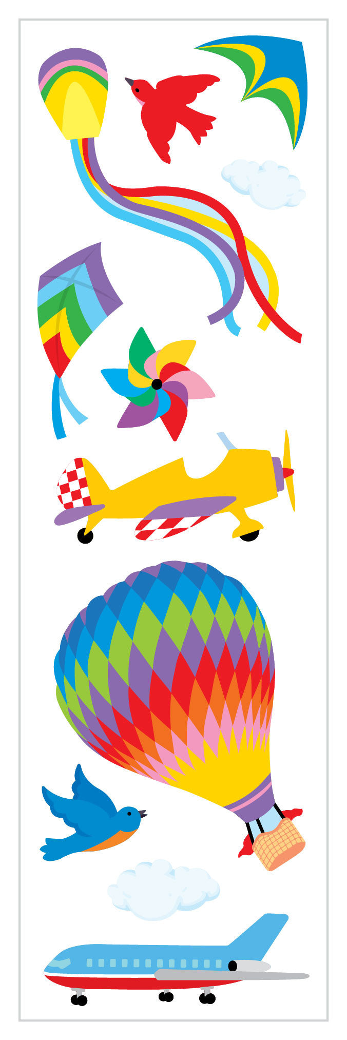 Flying Away Stickers - Mrs. Grossman's