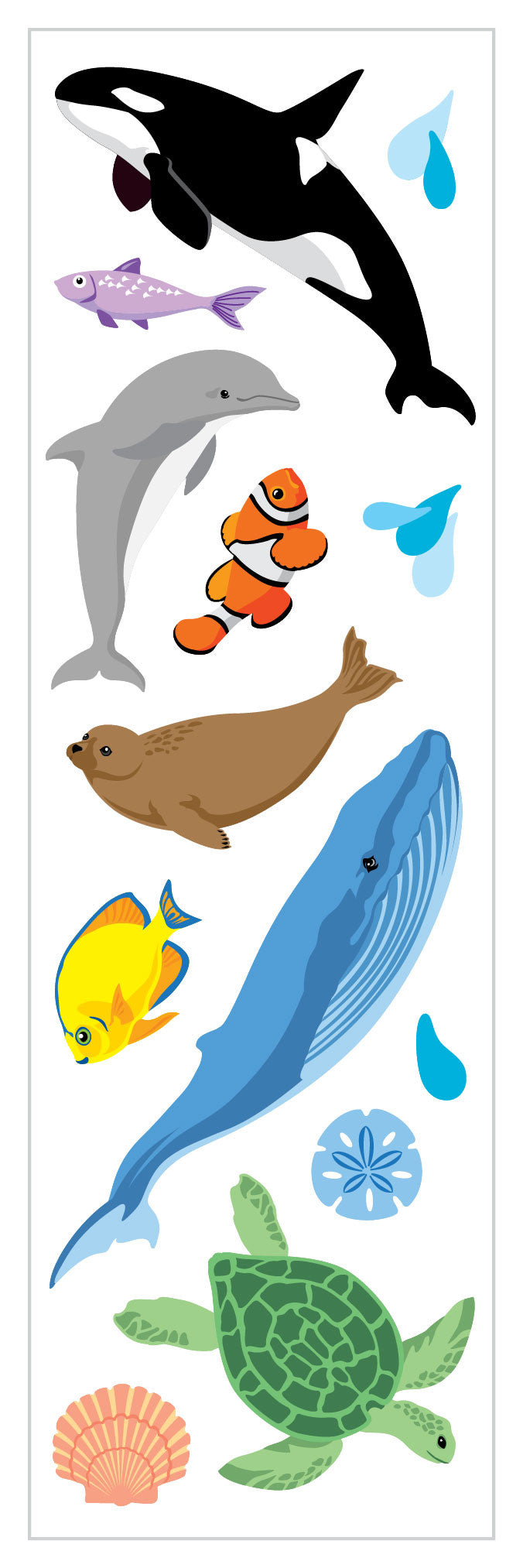 Ocean Life Stickers - Mrs. Grossman's