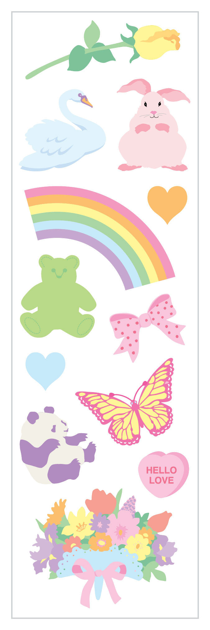 Pretty Pastels Stickers - Mrs. Grossman's
