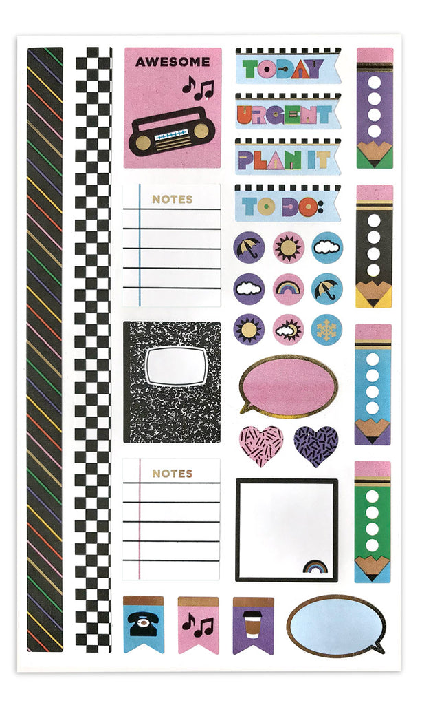 90's Throwback Planner Accents - Mrs. Grossman's