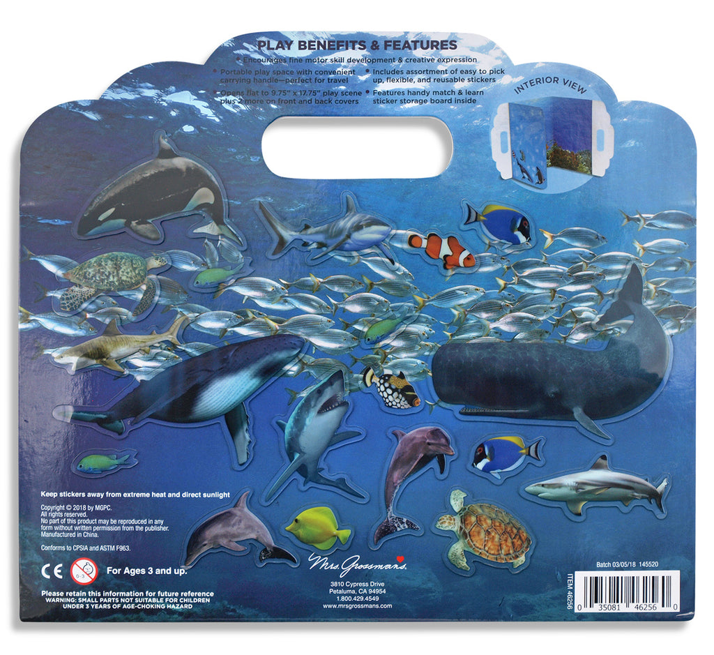 Under the Sea Peel & Play Sticker Activity Set - Mrs. Grossman's
