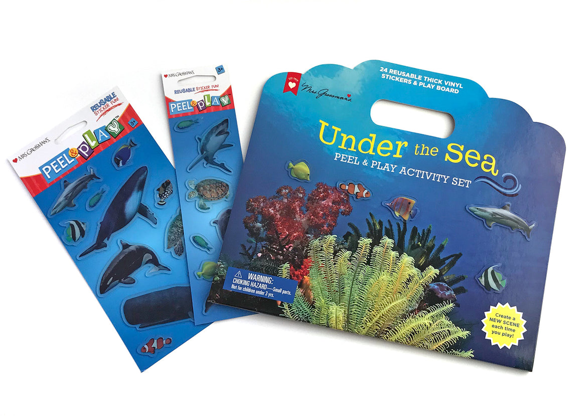 LIMITED SPECIAL! Under the Sea Peel & Play Activity Set Bundle - Mrs. Grossman's