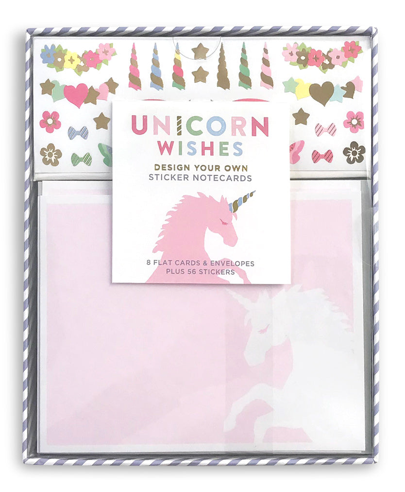 Unicorn Wishes Design Your Own Sticker Notecards - Mrs. Grossman's