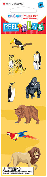 "Peel & Play 2"" Strip-Zoo Stickers - Mrs. Grossman's"