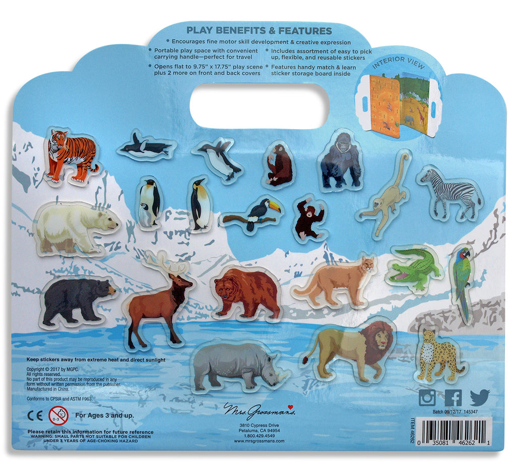 LIMITED SPECIAL! Zoo Animals Peel & Play Activity Set Bundle - Mrs. Grossman's