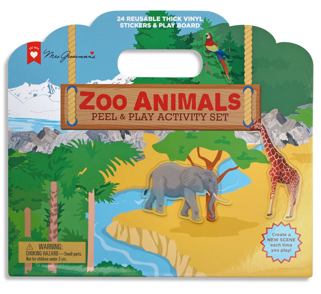 Zoo Animals Peel and Play Activity Set - Mrs. Grossman's