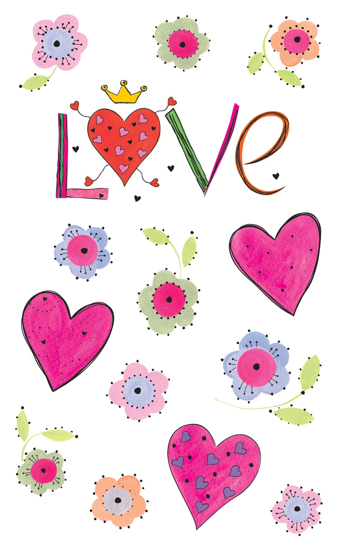 Turnowsky Blooming Love, stickers, Mrs. Grossman's Sticker Factory