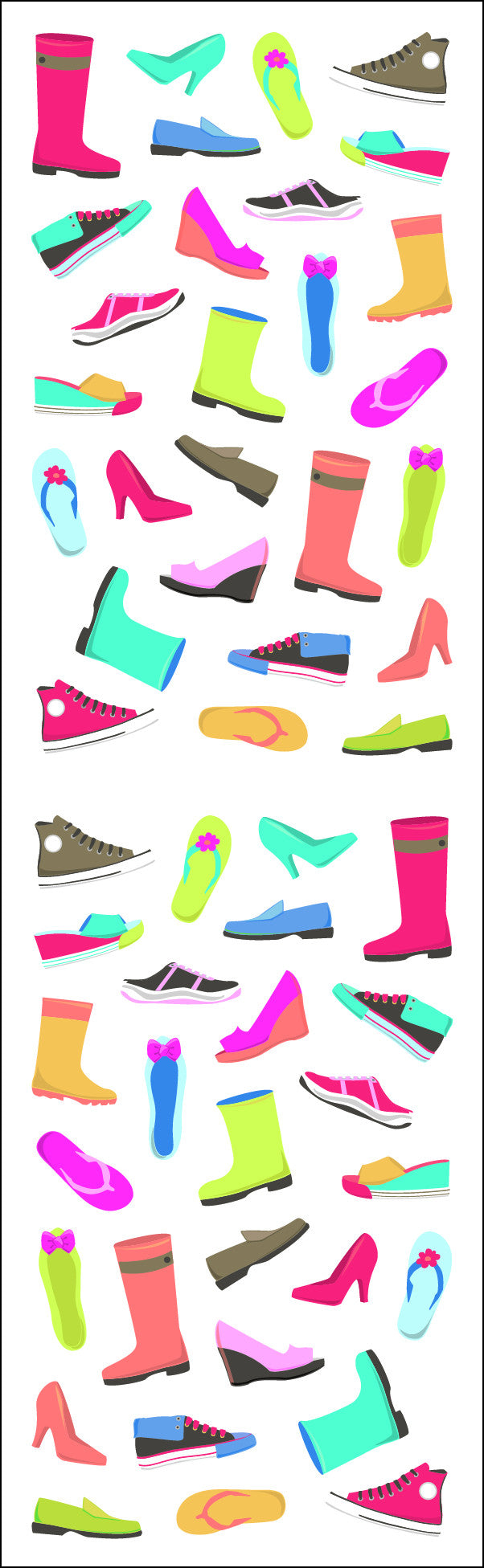 Shoes & Boots, micro, Sparkle Stickers - Mrs. Grossman's