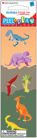 "Peel & Play 2"" Strip-Dinosaurs"