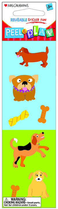 "Peel & Play 2"" Strip-Dogs Stickers - Mrs. Grossman's"