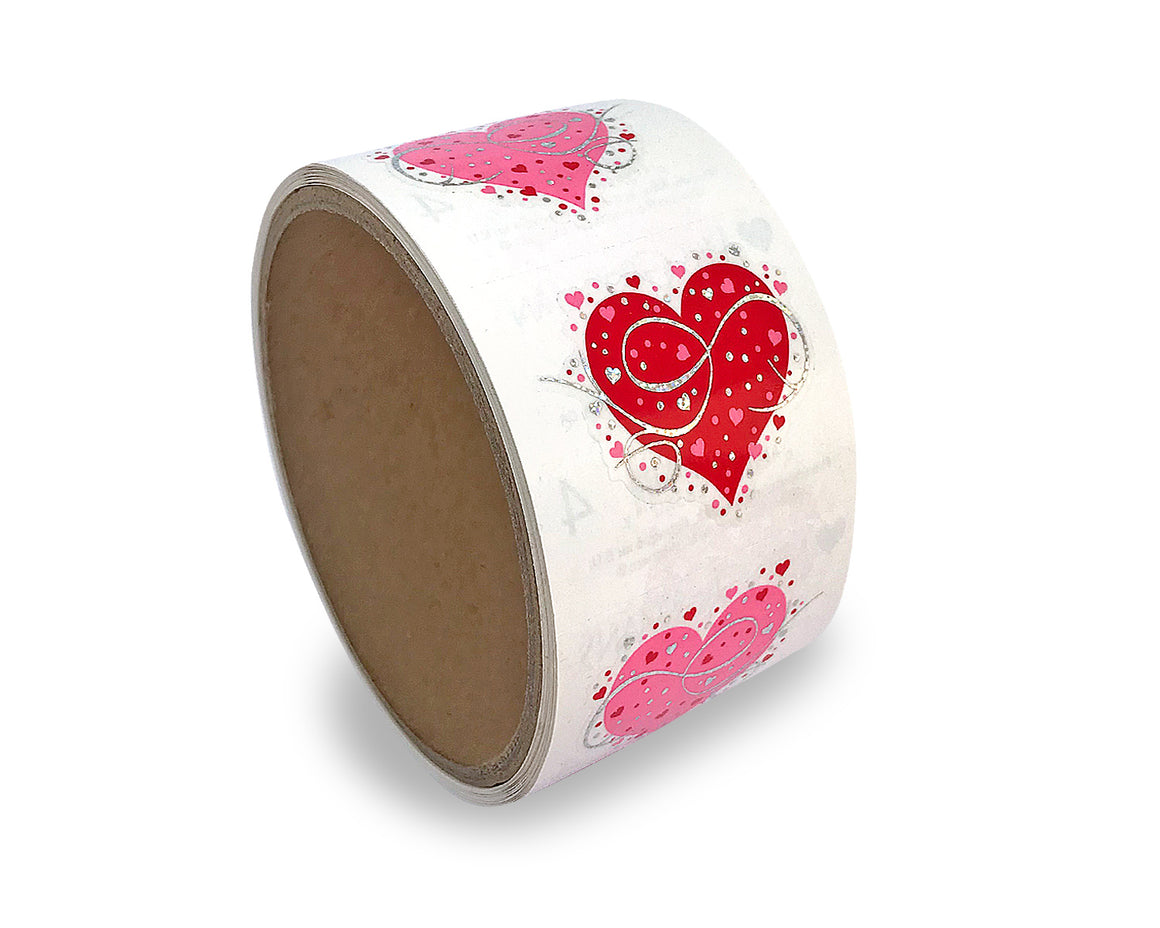 Fancy Heart Sticker Roll