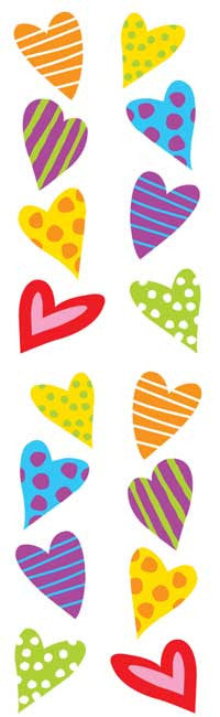 chubby hearts, sticker, Mrs. Grossman's Stickers